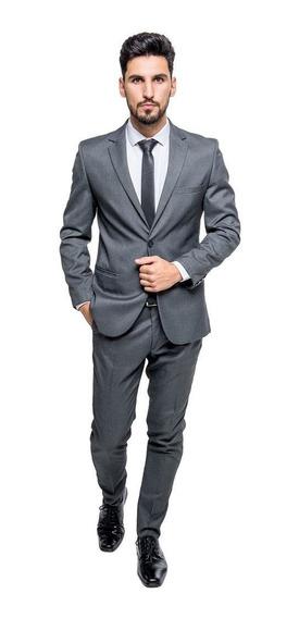 Terno Slim Masculino Chumbo Promoção Frete Grátis Imperdível