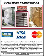 Cortinas Venecianas Pvc - Aluminio - Madera