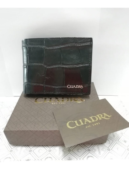 Billetera Cuadra B2910al Alligator Negro Wallet
