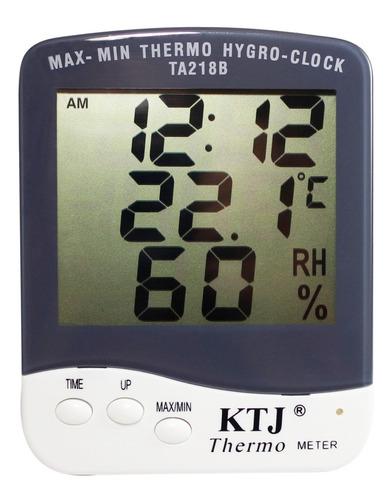 Termohigrómetro Digital Reloj Con Certificado De Calibración