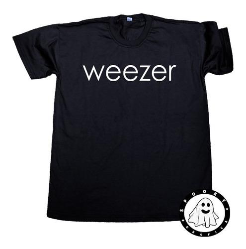 Remera Weezer Logo Unisex Algodón Rock Pop Alternativo