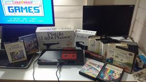 Master System + Pistola + Óculos 3d + 14 Jogos - Coleção