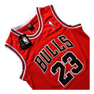 Nba Camiseta Michael Jordan #23 Chicago Bulls Roja Bordada
