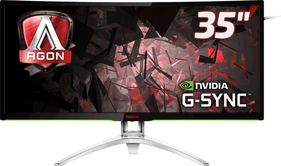 Monitor Aoc 35 Ultrawide Nvidia Gsync Hdmi Ag352ucg Promoção