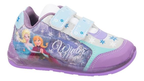 Tenis De Niña Con Luces Disney Frozen Envío Gratis
