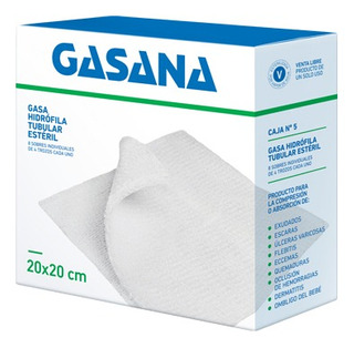 Gasa Estéril Gasana N5 20x20