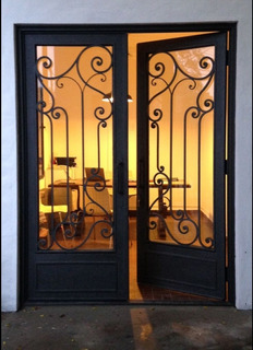 Puerta Frente De Hierro Forjado 90x205 Cm