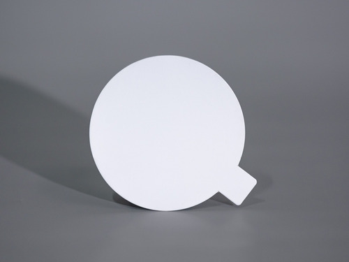 Disco Plastificado Ppm Blanco Mate D. 8cm C/pestaña (x200u)