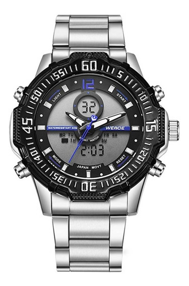 Relógio Masculino Weide Anadigi Wh-6105 Azul Original