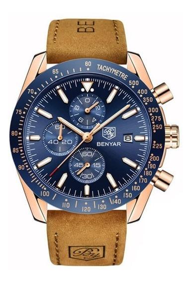 Relógio Benyar 5140 Masculino De Luxo Original