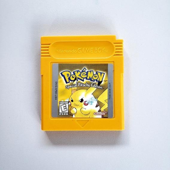 Pokemon Yellow Pikachu Original Salvando Gameboy Game Boy