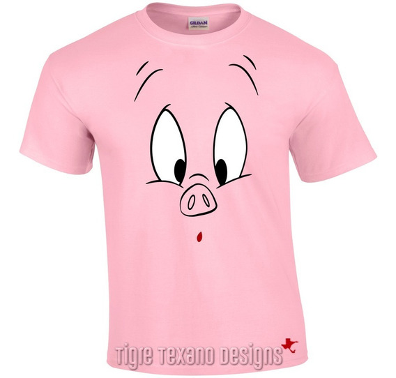 Playera Dibujos Animados Porky By Tigre Texano Designs
