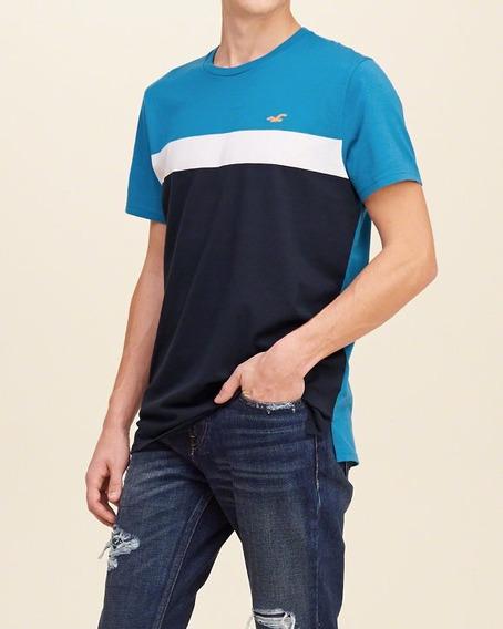 Camiseta Masculina Importada Hollister Listrada Original Pmg