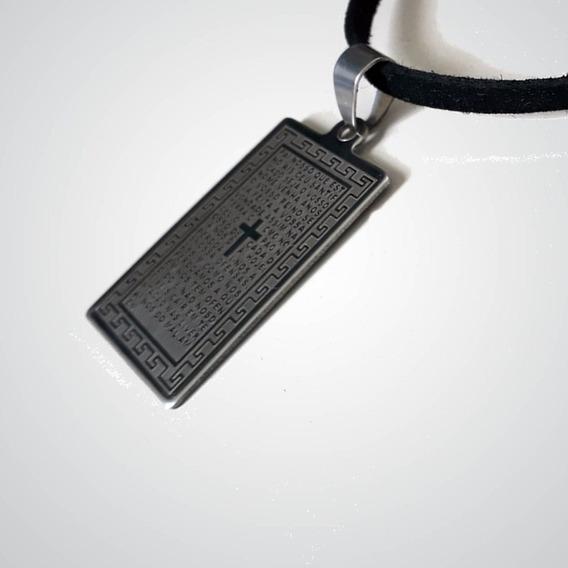 Medalinha Pai Nosso (preto)