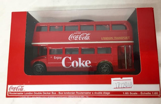 Ônibus Miniatura Coca Cola Metal Importado Usa Escala 1:60