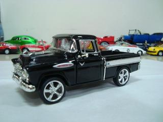 Miniatura Pickup Chevy Cameo 1957 1/38 Sunnyside Preta 71138