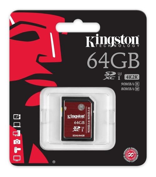 Cartao Memoria Classe10 Kingston Sda3/ Sdxc 64gb Uhs-i