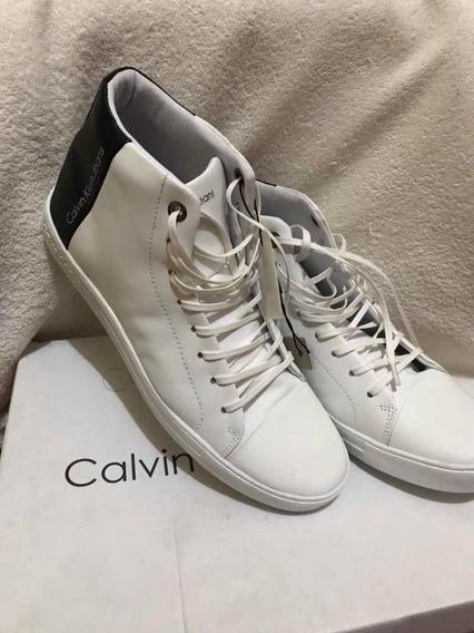 Tênis Masculino Calvin Klein Jeans Cano Alto (botinha)