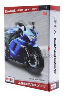 Kit Para Montar Kawasaki Ninja Zx-6r 1:12 Maisto