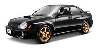 Subaru Impreza Wrx 2002, Escala 1/24. Bburago.