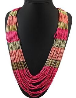 Maxi Collar De Moda Largo / Bisuteria (10 Marcianitos)