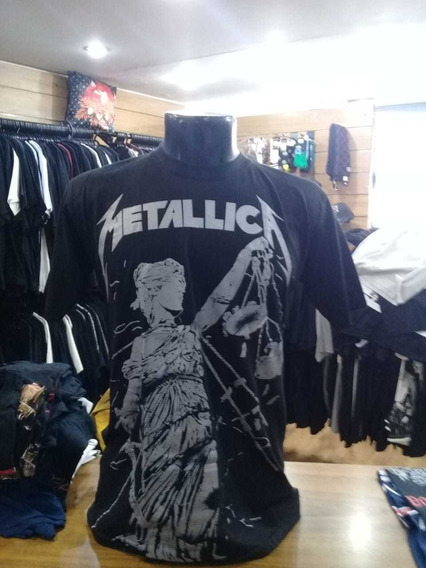 Camiseta Metallica And Justice For All Show Malhas Sm08