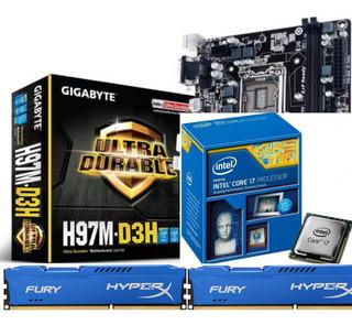 Combo Gamer I7 4790 + Evo 212 + Gigabyte H97m + 16gb Ddr3