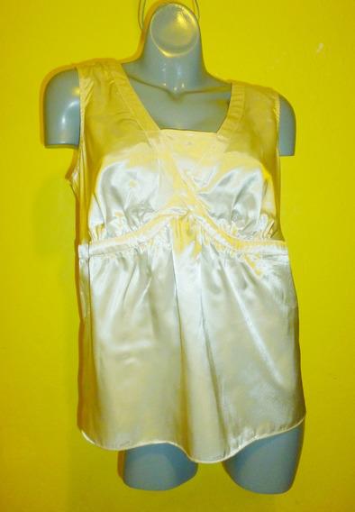 Blusa Marca Cato Color Perla Extra Grande 14w / 16w (36/38)