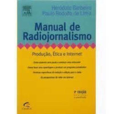 Livro Manual De Radiojornalismo Paulo Rodolfo De Lima