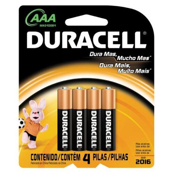4 Pilhas Duracell Aaa Palito Alcalina Duração Prolongada