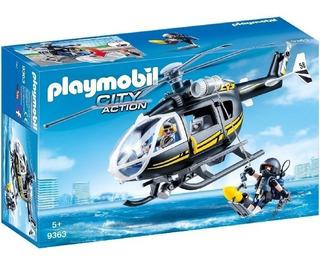 Playmobil 9363 City Helicoptero Policia Fuerzas Especiales