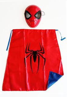 Kit Capa + Máscara Dura Spiderman