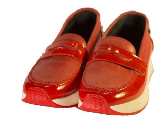 Zapatillas Rojas 0027 Mujer Comodisimas Nuevos Oferta!!!