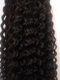 Cabelo Humano Cacheado A Vapor P/mega Hair 60 A 65cm 100gr