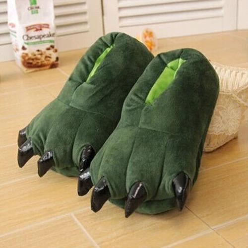 Babuchas Verdes Garras Unisex Para Disfraz Pijama M / L   //