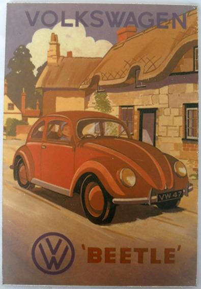 Quadro Placa Decorativa Volkswagen Beetle Retrô Mdf Coleção