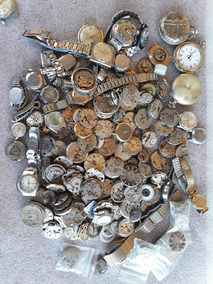 Sucata De Relógios Mecânicos E Pulseiras