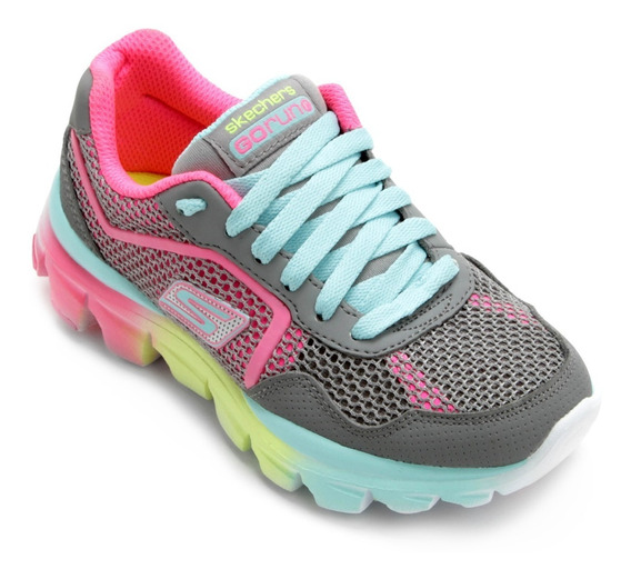 Tênis Casual Infantil Skechers Go Run Ride 80685 Gymt/pkmt