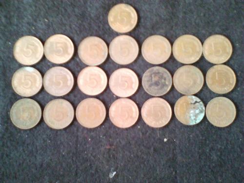 Monedas De Colección De 5 Centavos Año 1977