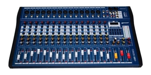 Mesa De Som Interface 16 Canais Lexsen Lmx16usb 24bits Blue