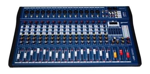 Mesa De Som Interface 16 Canais Lexsen Lmx16usb 24bits Blue