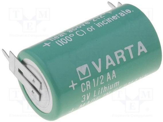 Bateria Cr14250 3v Varta Lithium Com 2 Terminais Para Solda