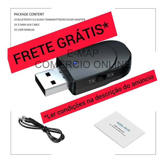 Adaptador P/ Tv Audio Fone De Ouvido Bluetooth P2 Usb Kn330