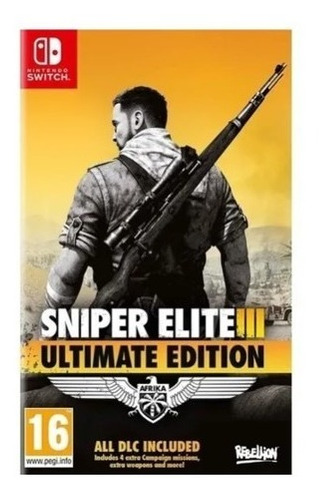 Sniper Elite 3 Ultimate Edition Switch Envio Imediato