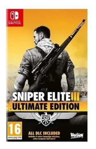 Sniper Elite 3 Ultimate Edition Switch Envio Imediato