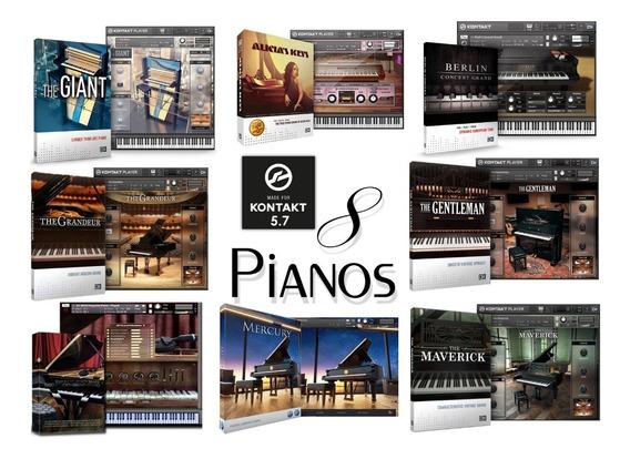 8 Pianos Para Kontakt - Envio Imediato