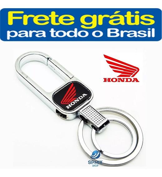 Chaveiro Metal Honda Moto Mosquetão 2 Argola Frete Gratis