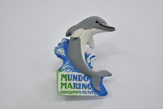 Imán Delfín De Cerámica Mundo Marino