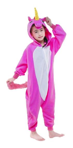 Pijama Mameluco Kigurumi Cosplay Unicornio Rosa Niñas Niños