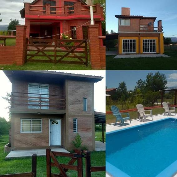 Alquilo Casas 5/7 C/ Aire Ac. Mina Clavero Con Y Sin Piscina